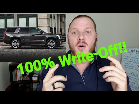 How to Write Off FULL value of a New Business Vehicle 2018 | Section 179