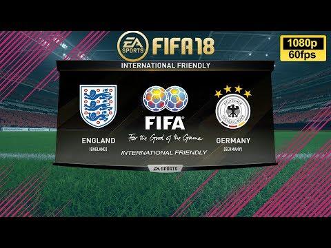 FIFA 18 England vs Germany | International Friendly | PS4 Full Match