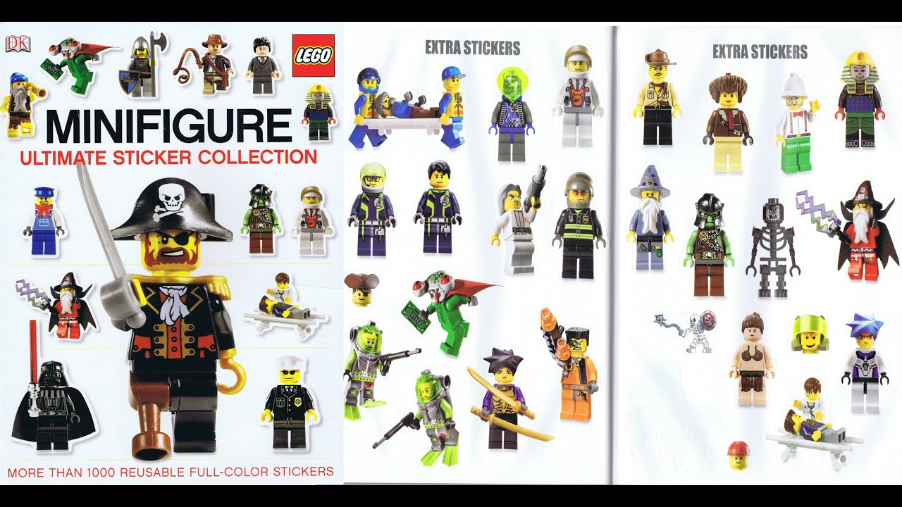 2010 lego minifigure ultimate sticker collection book pages slide