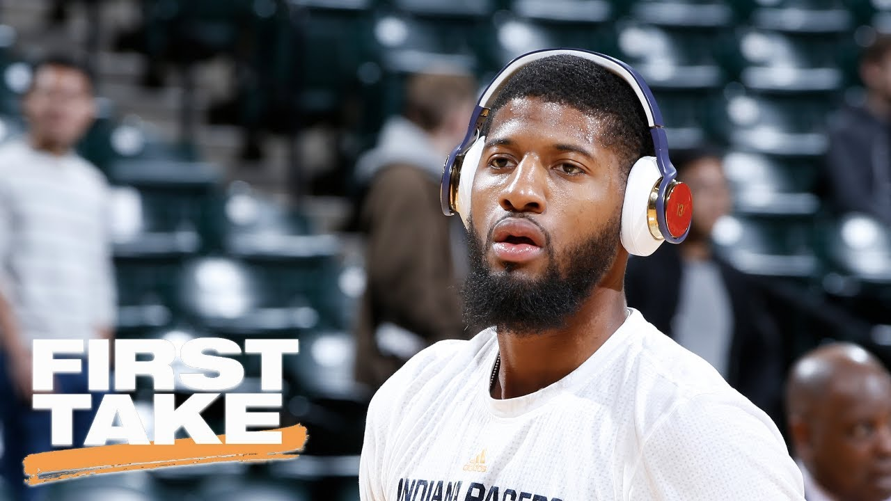 First Take Debates Whether Paul George Would Be A Great Fit For The Houston Rockets With James Harden And Chris Paul Watch Espn On Youtub