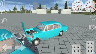 Simple Car Crash Physics Simulator Demo