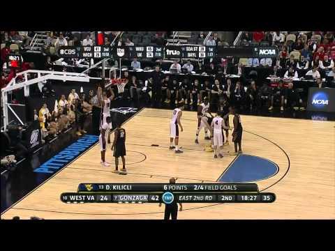 Gonzaga VS West Virginia 3/15/12 (NCAA Tournament 2012 First Round)