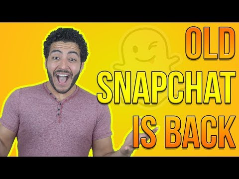 HOW TO GET THE OLD SNAPCHAT BACK!! THANK YOU SNAPCHAT (Tips and Tricks)