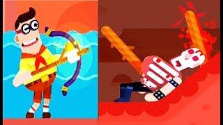 Bowmasters #13 Игра про ДУЭЛЬ ГЕРОЕВ Игровое видео Боумастер   #Мобильные игры