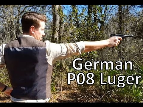 German P08 Luger Shooting
