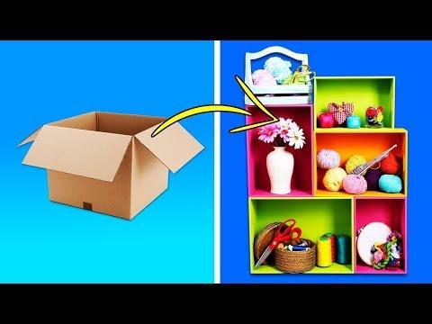 #Лучшедома Полка из картона для посуды: элементарно просто