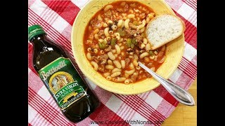 Pasta e Fagioli Soup with Sausage   Rossella's Cooking with Nonna
