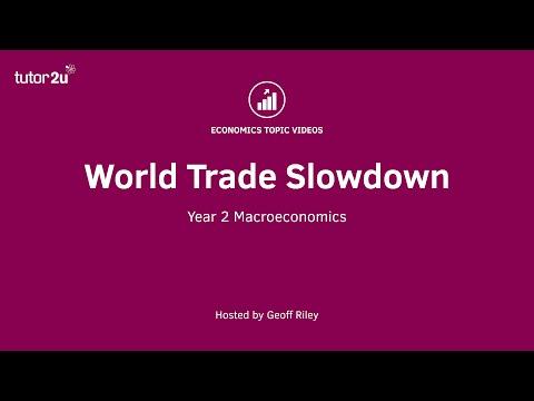 The Slowdown in World Trade