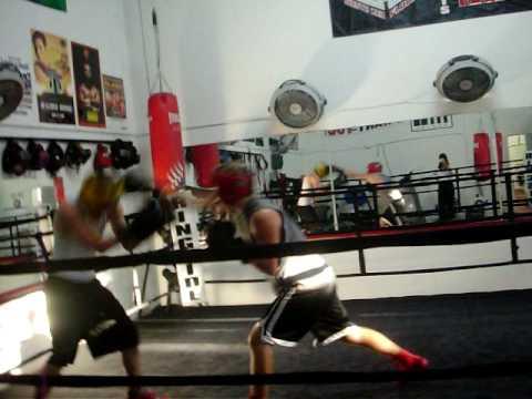 boxing part 1 sparing Brody Baughman vs tyler redmon