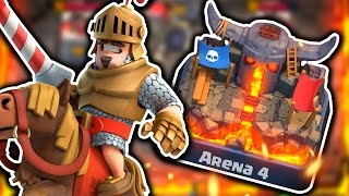 Clash Royale Reaching PEKKAS PLAYHOUSE! Arena 4