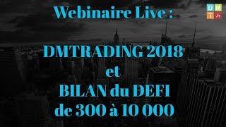 DMTrading 2018 et bilan du défi de 300 à 10 000 euros...