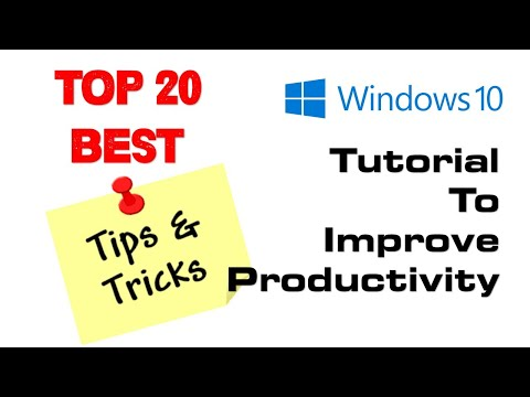 Windows 10 Tutorial | Top 20 Best Windows 10 Tips and Tricks To Improve Productivity