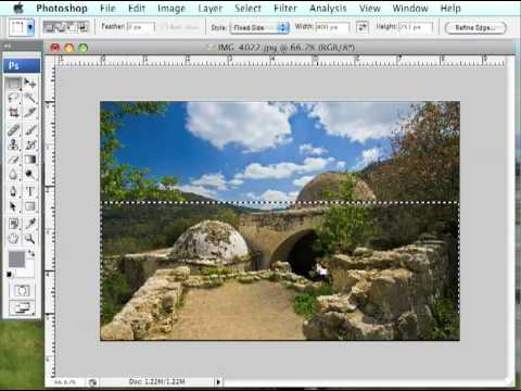 how to make an image a specific size in photoshop