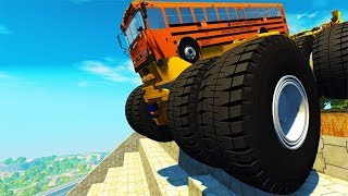 Beamng drive - Belaz 75710 Crashes & Destruction #11