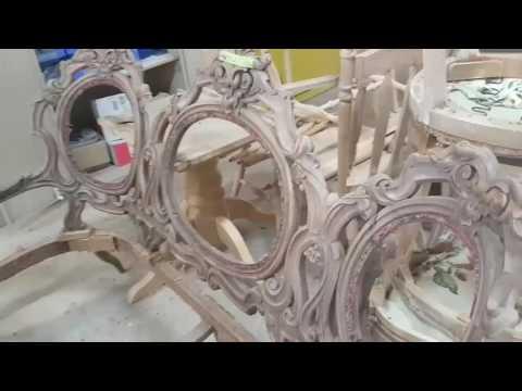 TMC Restoration - Delicate Hardwood Carving - Antique Sofa