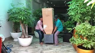 www.anber.vn giao hàng chậu composite cao cấp trồng cây kim ngân cổ thụ