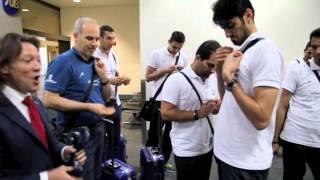 ورود تیم والیبال ایران به فرودگاه لس آنجلس