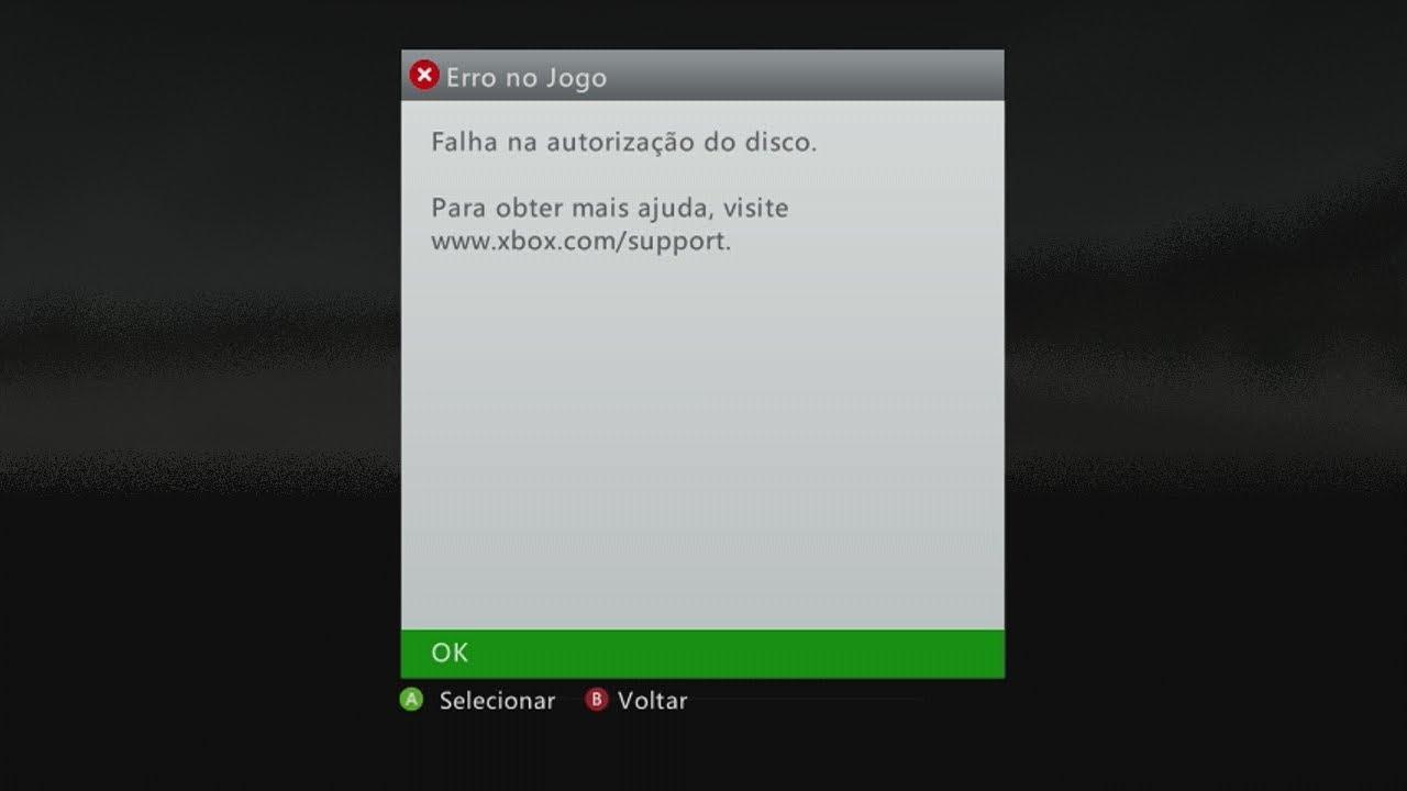 Como Evitar A Falha Na Autorizao Do Disco No Xbox 360 YouTube