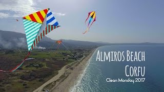 Almiros Beach Kite Flying Clean Monday 2017, Corfu, Greece
