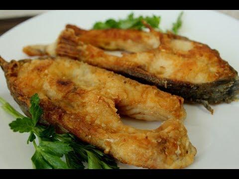 Жареный зеркальный карп / Как пожарить рыбу / Рецепт / Жареная рыба на сковороде