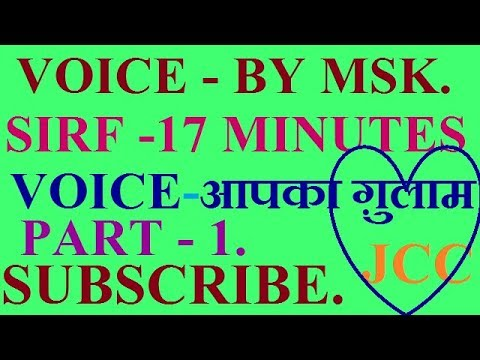 ACTIVE AND PASSIVE VOICE | BASIC ENGLISH GRAMMAR PART-1 | ALL COMPETITIVE EXAMS | HINDI BY MSK.