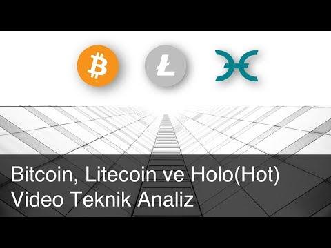 Bitcoin, Litecoin ve Holo(Hot) Video Teknik Analiz