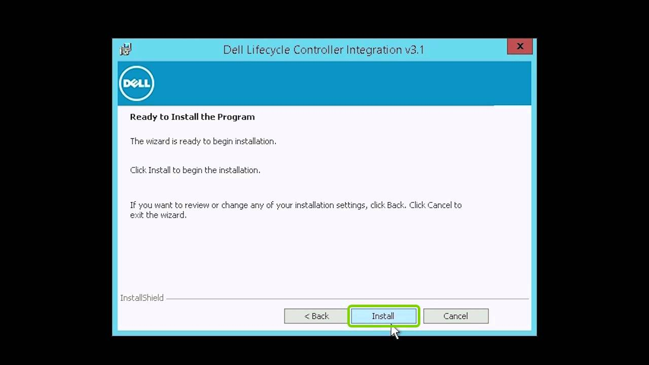 Dell Lifecycle Controller Integration 3 1 Install