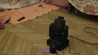 Mini LedSpot moving headlight 30W - Режим работы под музыку без DMX.