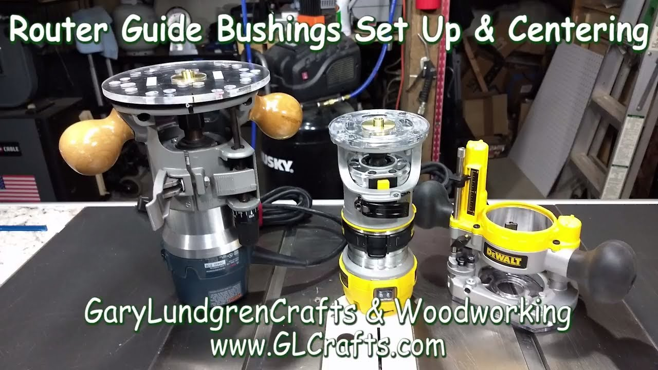Router Guide Bushings Setup And Centering Bosch Dewalt Ep2018