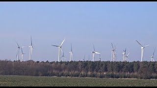 Wind farm tour with Enercon and Vestas wind turbines