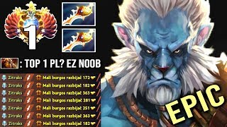 EPIC GAME Top 1 Divine Rapier Phantom Cancer vs Earthshaker Best Counter Insane Gameplay WTF Dota 2