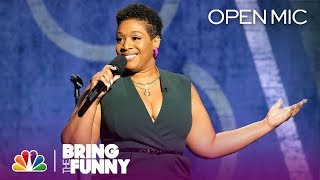 Comic Tacarra Williams Performs in the Open Mic Round - Bring The Funny (Open Mic)