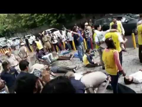 Dozen of people died At Rithala metro station delhi due to rain water electric shock