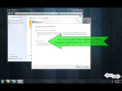 How To Backup System Files & Folders In Windows 7