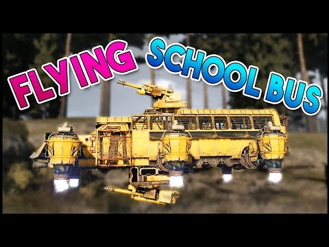 Crossout - FLYING MAGIC SCHOOL BUS & NEW MAP BROKEN ARROW - Crossout Gameplay