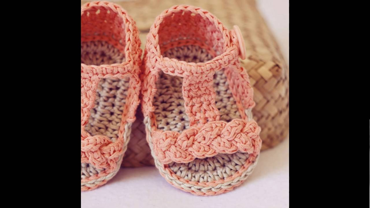 Crochet baby sandals patterns - YouTube