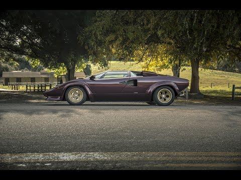 The Lamborghini Countach driven by Valentino Balboni