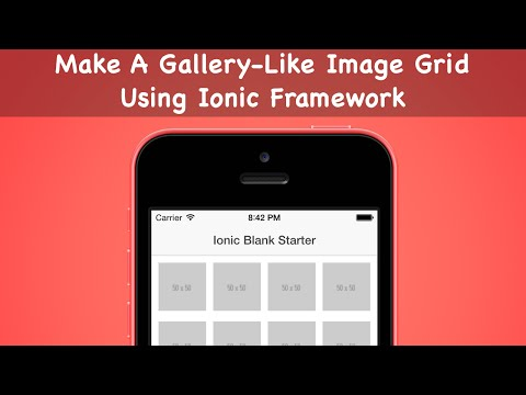 Make A Gallery-Like Image Grid Using Ionic Framework