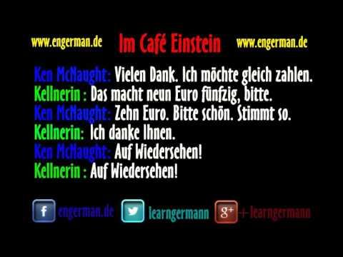 Deutsch Lernen | Dialog | Im Café Einstein