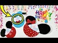DIY Birthday Gift Cards |  Mickey Mouse Minnie Mouse and Donald Duck