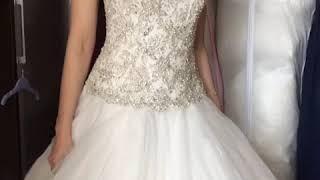 Пышное свадебное платье ручной работы
