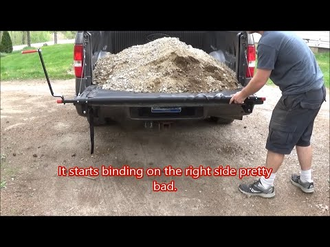 Harbor Freight 60800 2000lb Truck Bed Cargo Unloader on a 2005 Ford F-150 First Use and Review