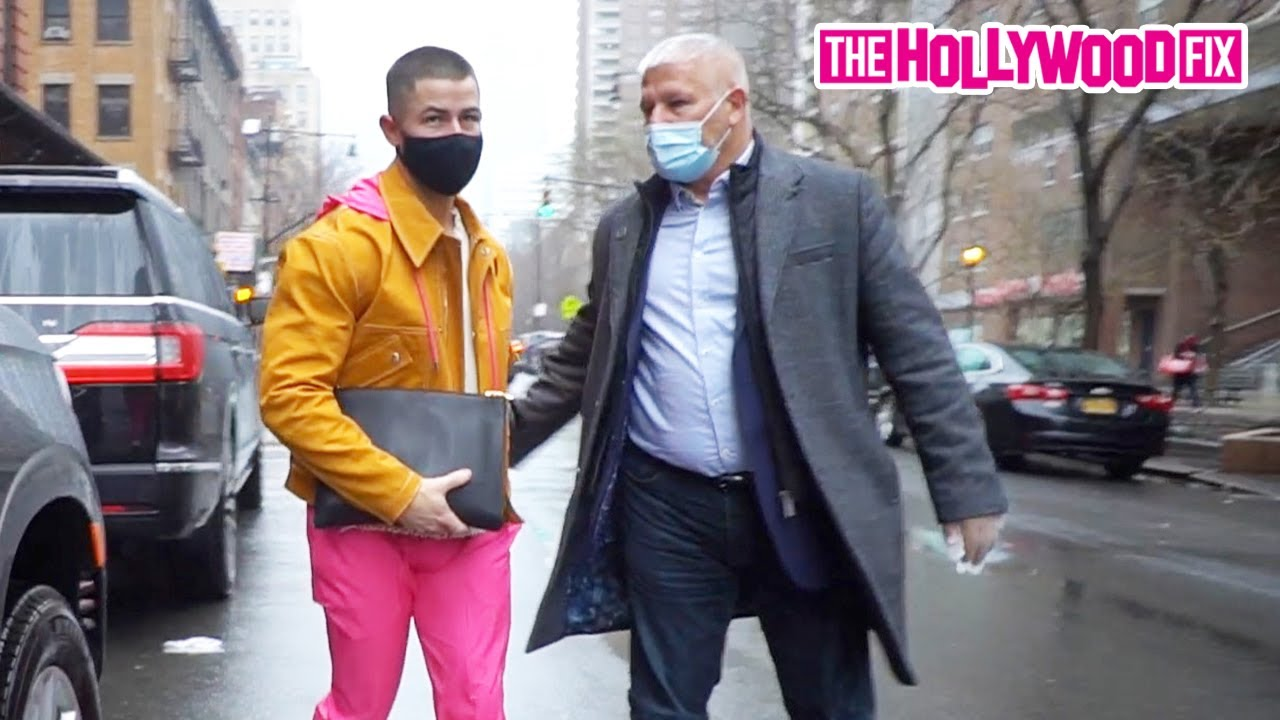 Nick Jonas Heads Out To SNL Soundcheck To Prepare To Perform His New Hit 'Spaceman' In New York