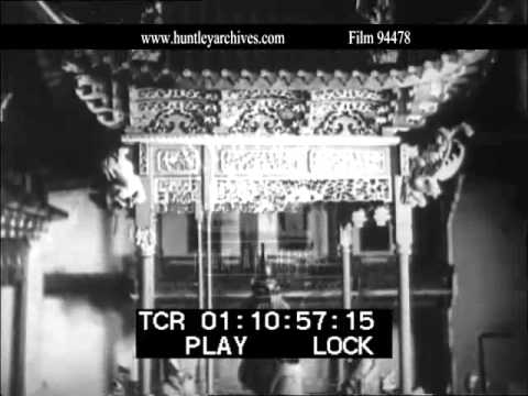 Shanghai, China, 1930's.  Archive film 94478