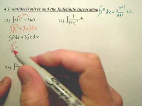 4 1a1 Antiderivatives and Indefinite Integration - Calculus