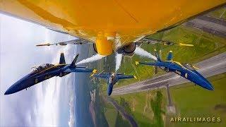 Fantastic Blue Angels Onboard Camera