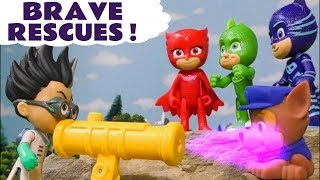 PJ Masks and Paw Patrol Brave Rescues with Mighty Pups and funny Funlings TT4U