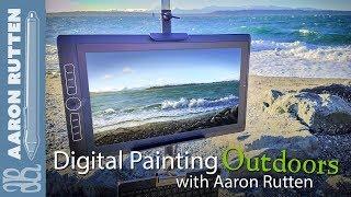 Marina Beach Park #2 - Digital Painting Outdoors