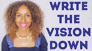 WRITE THE VISION DOWN - Starting Off 2016