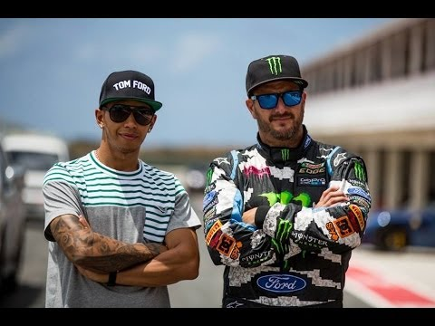 Ken Block Vs Lewis Hamilton Youtube